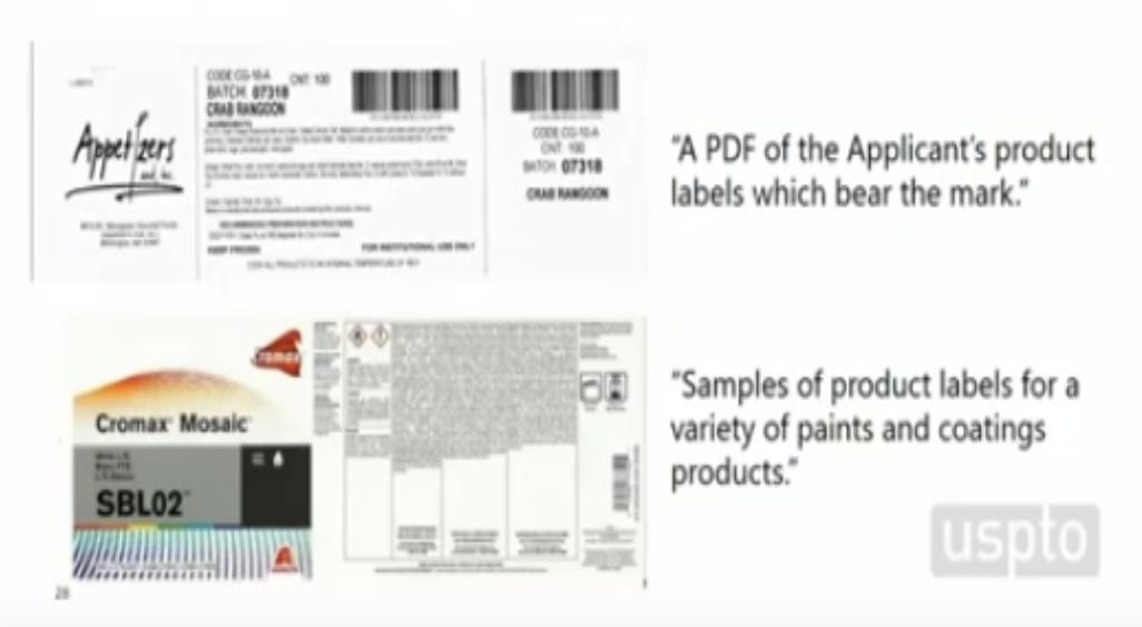 美國商標合格使用證據圖片-清晰的產品標籤